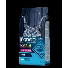 MONGE CAT BWILD LOW GRAIN ANCHOVIES низкозерновой корм из анчоуса для взрослых кошек 1.5кг