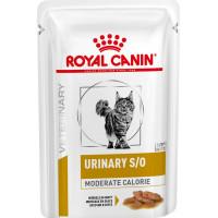 Royal Canin URINARY S/O MODERATE CALORIE при предрасположенности к избыточному весу при лечении мочекаменной болезни 85г