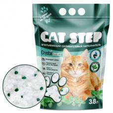 CAT STEP Crystal Fresh Mint силикагелевый наполнитель с ароматом мяты