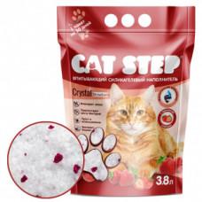 CAT STEP силикагелевый наполнитель с ароматом клубники