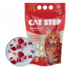 CAT STEP силикагелевый наполнитель с ароматом клубники (3.8л)