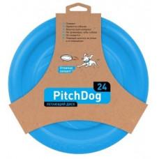 PitchDog летающий диск d 24 см голубой