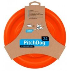 PitchDog летающий диск d 24 см оранжевый