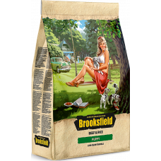 Brooksfield PUPPY корм для щенков всех пород говядина/рис 800г