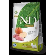 Farmina dog N&D Беззерновой корм для собак мелких пород кабан с яблоком