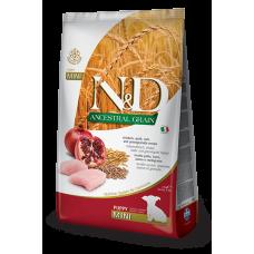 Farmina dog N&D Низкозерновой корм для щенков мелких пород курица с гранатом