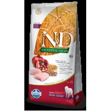 Farmina dog N&D Низкозерновой корм для собак крупных и гигантских пород курица с гранатом