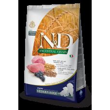 Farmina dog N&D Низкозерновой корм для щенков средних и крупных пород ягненок с черникой