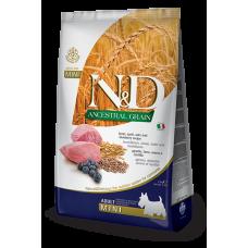 Farmina dog N&D Низкозерновой корм для собак мелких пород ягненок с черникой
