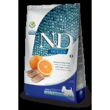 Farmina dog N&D Беззерновой корм для собак мелких пород сельдь с апельсином