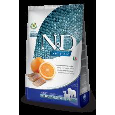 Farmina dog N&D Беззерновой корм для собак средних и крупных пород сельдь с апельсином