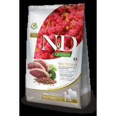 Farmina dog N&D Neutered Беззерновой корм для стерилизованных собак средних и крупных пород утка с киноа