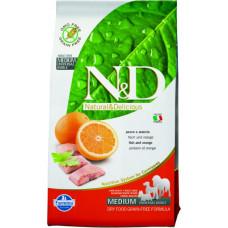 Farmina N&D Беззерновой Рыба с апельсином д/взрослых собак мелких пород 7кг