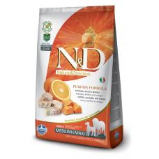 Farmina N&D Беззерновой Треска, тыква, апельсин д/взрослых собак мелких пород 7кг