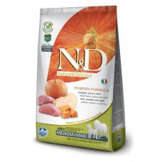 Farmina N&D Беззерновой Кабан, тыква, яблоко д/взрослых собак мелких пород 7кг