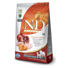 Farmina N&D Беззерновой Курица, тыква, гранат д/взрослых собак мелких пород 7кг