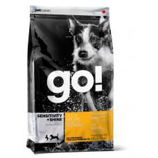 GO! SENSITIVITY + SHINE Для Щенков и Собак с Цельной Уткой и овсянкой