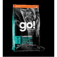 Go! Solutions Carnivore Беззерновой для собак всех возрастов 4 вида мяса: индейка, курица, форель, утка 10кг
