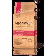 Grandorf для взрослых собак средних пород ягненок с рисом 3кг