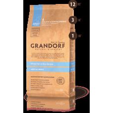 Grandorf для взрослых собак всех пород белая рыба рис 1кг