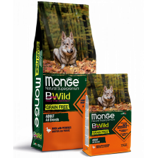 Monge BWild GRAIN FREE ALL BREEDS ADULT CON ANATRA беззерновой для собак всех пород с уткой 12кг