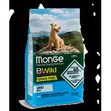 Monge BWild GRAIN FREE MINI ADULT CON ACCIUGHE беззерновой для взрослых собак мелких пород с анчоусом