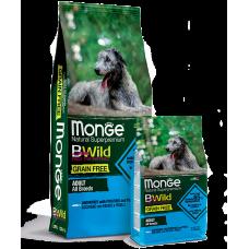 Monge BWild GRAIN FREE ALL BREEDS ADULT CON ACCIUGHE беззерновой для собак всех пород с анчоусом 2.5кг