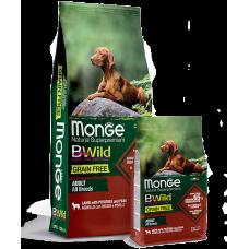 Monge BWild GRAIN FREE ALL BREEDS ADULT CON AGNELLO беззерновой для собак всех пород с ягненком