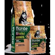 Monge BWild GRAIN FREE ALL BREEDS ADULT CON SALMONE беззерновой для собак всех пород с лососем 12кг