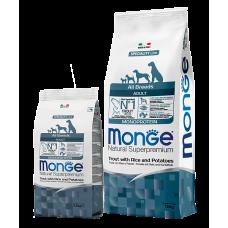 Monge Trout Корм с форелью, рисом и картофелем для взрослых собак всех пород