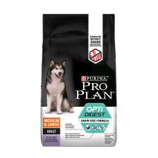 Pro Plan Optidigest беззерновой корм для взрослых собак средних и крупных пород с чувствительным пищеварением 12кг